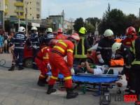 Accident deosebit de grav. Pompierii și-au demonstrat dibăcia (FOTO)