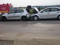 Accident în lanț în județul Satu Mare. Un șofer a ajuns la spital