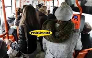Sătmăreancă, prinsă la furat într-un troleibuz din Cluj