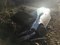 Accident grav la Pădurea Noroieni. O tânără a ajuns la Urgențe (FOTO)