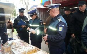 Razie a polițiștilor în județ pentru combaterea comerțului ilicit