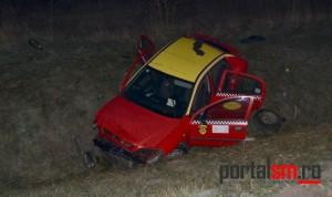 Polițiștii au stabilit cauzele accidentului de la Odoreu. Șoferul, în stare gravă (FOTO&VIDEO)