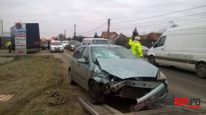 Accident grav la Satu Mare. Două victime rănite