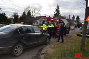 Accident în lanț la Satu Mare. O femeie a ajuns la spital