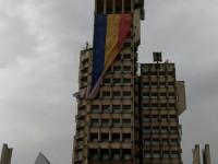 Drapelul a fost coborât de pe Palatul Administrativ, din motive de securitate