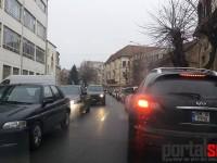 Nebunie curată în traficul sătmărean. Este practic paralizat (FOTO)