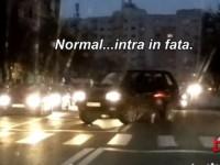 Nesimţire fără margini. Depăşire pe dublă linie, înainte de semafor (VIDEO)