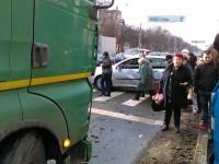 Accident pe Drumul Careiului. Un Tir și o mașină implicate (FOTO)