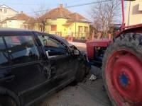 Accident violent la intrarea în Lazuri (FOTO)