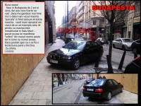 Jmecher de Satu Mare. Parcare nesimțită cu BMW-ul la Budapesta (FOTO)