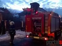 Incendiu la o casă în Satu Mare. De la ce a pornit focul (FOTO)