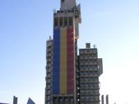 Tricolorul României, din nou pe Palatul Administrativ