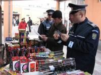 Articole pirotehnice, confiscate de polițiști înainte de Revelion