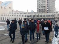 Protest anti-grațiere în centrul Sătmarului (LIVE)