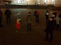 Protest fără vlagă la Satu Mare. Doar câțiva sătmăreni au ieșit în stradă (FOTO)