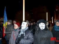 Ziua a treia de protest. Cel mai puternic miting din Satu Mare (FOTO)