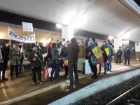 Sătmăreni la protestul de duminică seara din București (VIDEO)