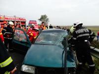 Accident cumplit între Iojib și Apa. O mașină a intrat sub un Tir