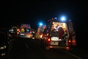 Accident grav în Homoroade. Două victime aruncate din maşină