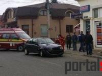 Accident rutier grav la Satu Mare. Un mopedist a ajuns la Urgențe (FOTO)