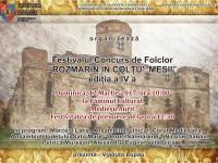 """Festivalul concurs de folclor """"Rozmarin în colţu' mesii"""" la cea de-a IV a ediție"""