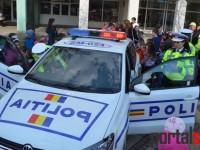 Expoziție a Poliției în centrul Sătmarului. Copiii, impresionați (FOTO&VIDEO)