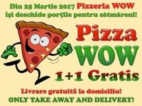 Pizza WOW! Cea mai mare pizza delivery & take away se deschide la Satu Mare