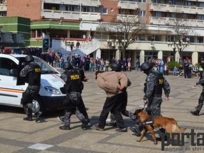 Demonstrație în forță a polițiștilor sătmăreni (FOTO&VIDEO)
