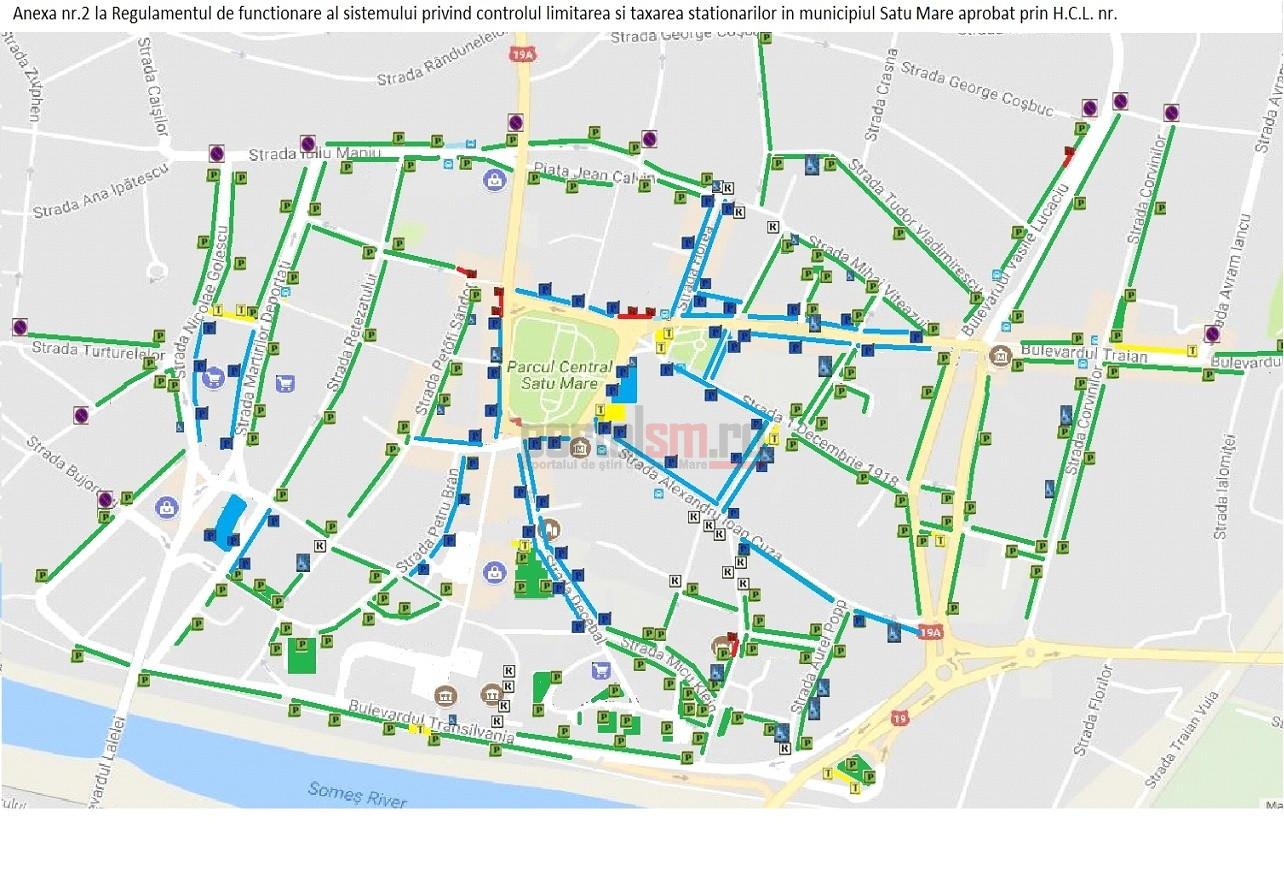 Harta Se Extind Parcările Cu Plată In Satu Mare Locatari
