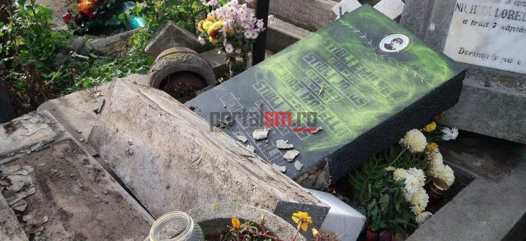 Több mint ötven sírt gyaláztak meg a szatmárnémeti temetőben (VIDEÓ)