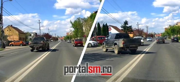 Pericol public. Șofer pe contrasens pe bulevardul Lucian Blaga